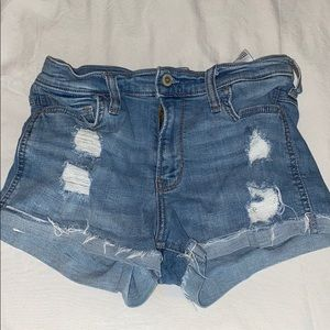 Hollister light washed jean shorts